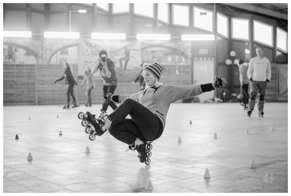 """I love blading"" at winter © kubaurbanczyk.pl"